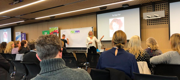 Tracey Spicer presenting at Fusion Conference 2018